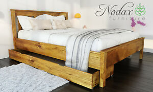 New solid wooden pine 5ft King Size bed frame with slats /'F11/' /_COLOURS