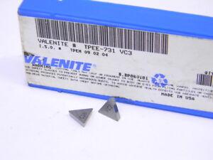 NEW-SURPLUS-10PCS-VALENITE-TPEE-731-GRADE-VC3-CARBIDE-INSERTS