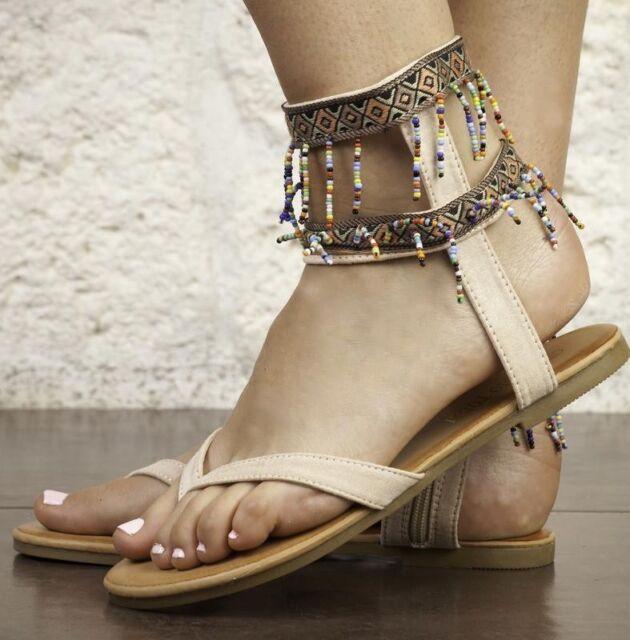 Scarpe donna infradito Indiano colore cammello