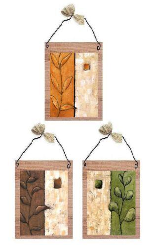 Floral Pictures Orange Green Brown Bedroom Bathroom Bath Wall Hangings Plaques