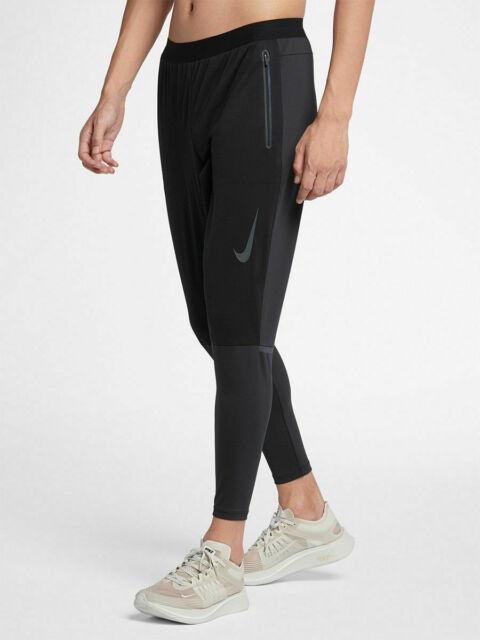 NWT Nike Shield Swift Men's Running Pants Black Large 929859 010