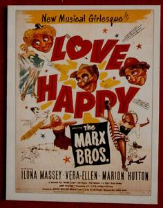 MARX BROTHERS - Card #12 - LOVE HAPPY - from Movie Idols Set