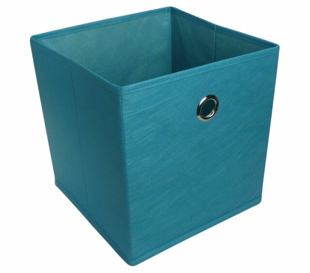 Fabric Cube Storage Bin Dark Blue 11