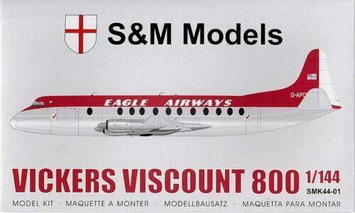 S/&M Models SMK44-01 KIT 1//144 Vickers VISCOUNT 800 EAGLE AIRWAYS