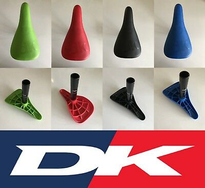 All  Colours DK Conductor BMX Saddle /& 25.4mm  Seat Post Combo Tracked Post