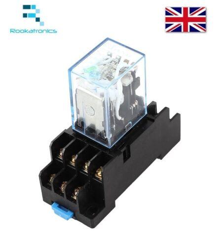 Relè di potenza bobina 12vdc my4nj 4no 4nc 14 Pin con presa base-SPEDIZIONE GRATUITA
