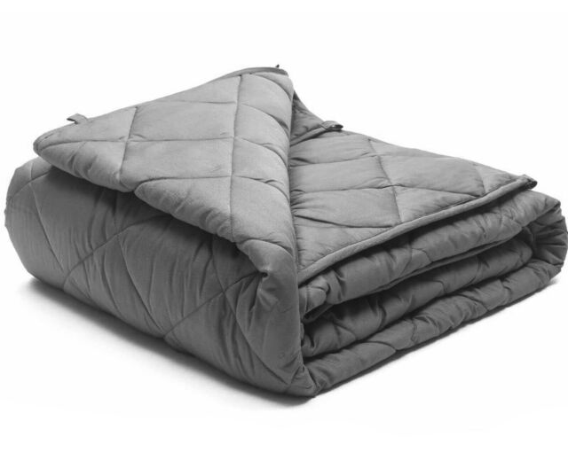 Luxura Weighted Blanket Soothing Calming Comfort Double Size 6KG Grey