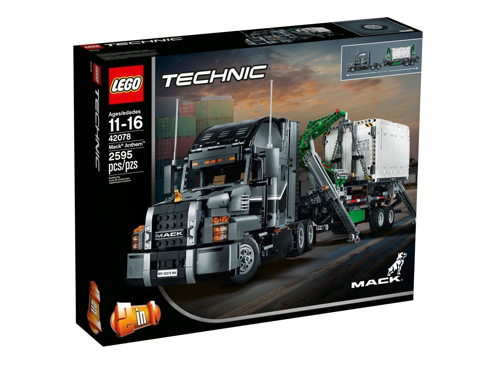 Lego Technic ® ™ 42078 mack Anthem nuevo New OVP misb