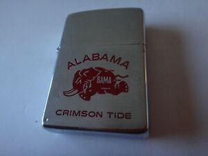 Year-1975-Brushed-Chrome-Zippo-Lighter-With-ALABAMA-CRIMSON-TIDE-Logo