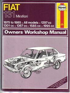 fiat 131 mirafiori 1975 1985 saloon estate haynes owners workshop rh ebay co uk Alcatel Tracfone Manual Mirafiori Italy