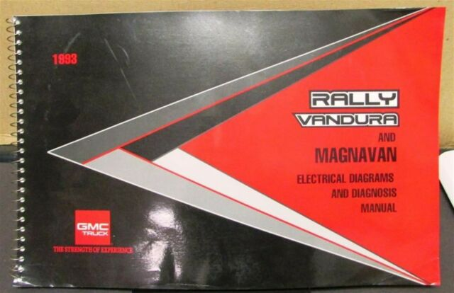 1993 Gmc Electrical Wiring Diagram Service Manual Rally