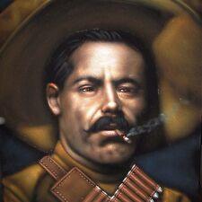 Pancho Villa , Francisco Art Original Oil Painting Black Velvet A201r