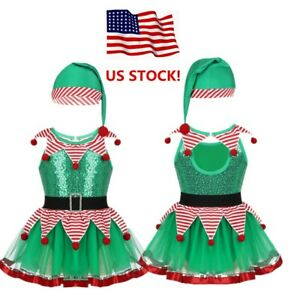 US-Girls-Kids-Baby-Fairy-Christmas-Costume-Dance-Tutu-Dress-Sequin-Party-Outfit