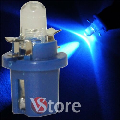 2 LED T5 B8.5D BLU Lampade Luci Lampadine Per Cruscotto e Quadro Strumenti 12V