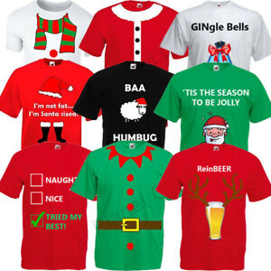 MENS ADULTS NOVELTY FUNNY CHRISTMAS T SHIRT TOP FANCY DRESS XMAS ... 20736723187f