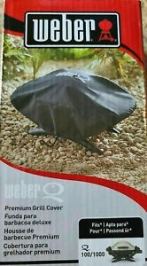 Weber-Q-Series-Black-Premium-Grill-Cover-7110-Fits-Q100-Q1000-NEW-FREE-USA-SHIP