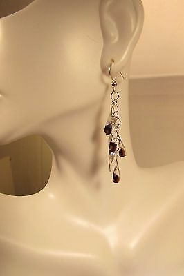 Fun and Sparkly Sterling Silver Drop Dangle Earrings hook drop
