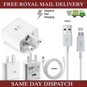 Genuine-Samsung-Fast-Charger-Plug-amp-1M-Micro-USB-Data-Cable-For-Galaxy-Phones-Lot