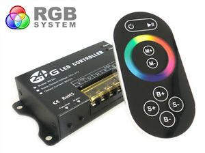 Ecu-RGB-24G-Voll-Farbe-Regler-RF-Wireless-12V-24V-24A-Fuer-Spule-Led