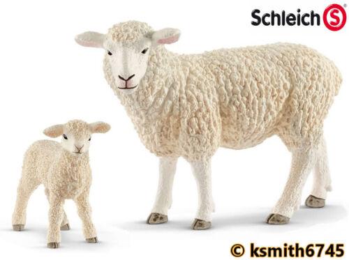 Nuevo * Schleich oveja /& Cordero Juguete Animal De Granja Mascota de plástico sólido Ovejas