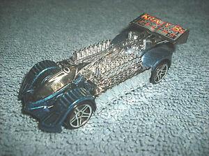 2000 HOT WHEELS KRAZY 8S SLIVER & BLUE 1:64 DIECAST CAR - NICE