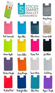 Silicone 3M Adhesive Pouch Credit Card Holder for Smart Cell Phone iPhone & more
