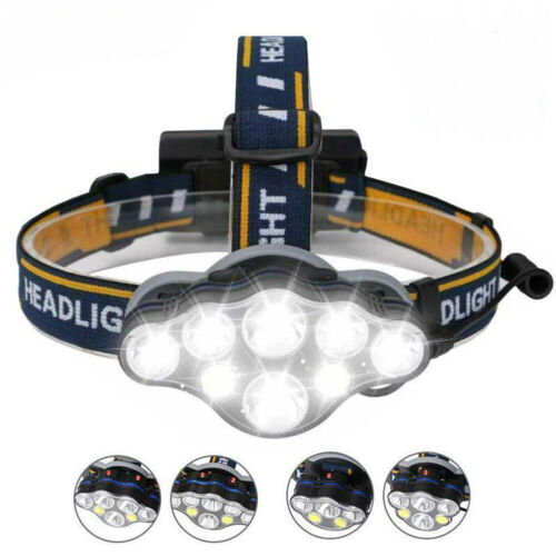 Details about  /350000LM LED Headlamps Headlights 8Mode Bright Lighting Rechargeable HeadLamp US