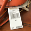 NWT-MICHAEL-KORS-MERCER-LARGE-DOME-LEATHER-SATCHEL-CROSSBODY-BAG-ORANGE thumbnail 5