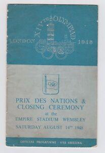 Orig-PRG-XIV-Olympic-Games-LONDON-1948-Closing-Ceremony-RARITY