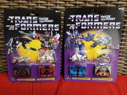 ravage /& RUMBLE WALMART EXCLUSIVE Transformers G1 réédition Frenzy /& Laserbeak