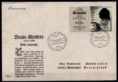 Lettischen Grammatik Gotthard F.stender .lettland 2014 Modischer Unter Der Voraussetzung Verfasser 1 1 In Stil; Fdc-brief