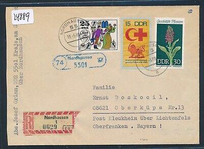 Ddr Landpost Spatel-stpl 74 Nordhausen / 5501 24889 Einfach Und Leicht Zu Handhaben Reco-brief 1969 R
