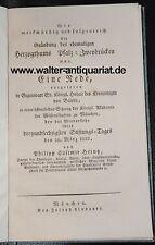 Rede 1822 über die Gründung des Herzogtums Pfalz-Zweibrücken P. C. Heintz