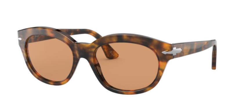 Persol 0PO 3250S 108/53 Caffe Havana/Brown Pillow Women's Sunglasses