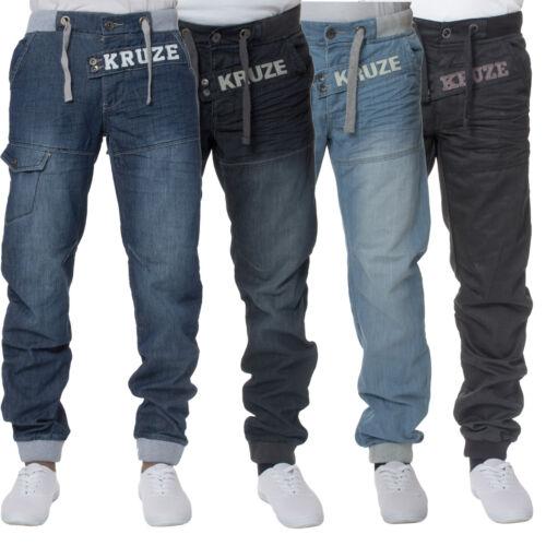 Kruze hommes côtelé Jeans Jogging élégant Jeans coupe standard pantalons