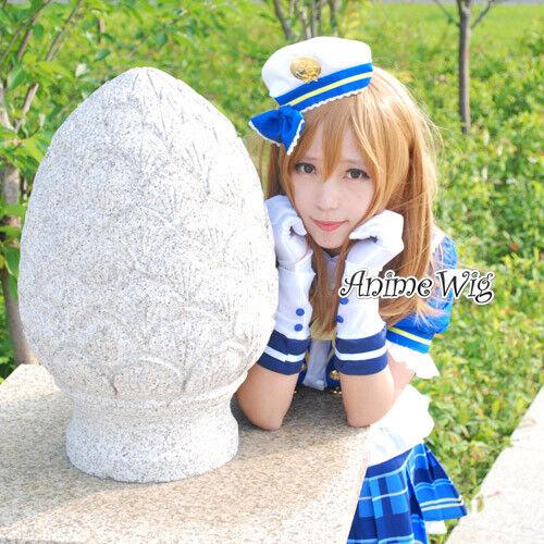 70CM Orangebraun Love Live Sunshine Kunikida Hanamaru Cosplay Langhaarperücke
