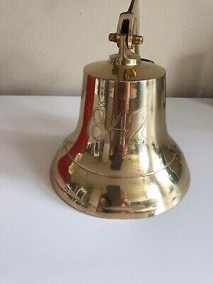 Effizient Große Messing Glocke 1842 , Mit Wandhalterung