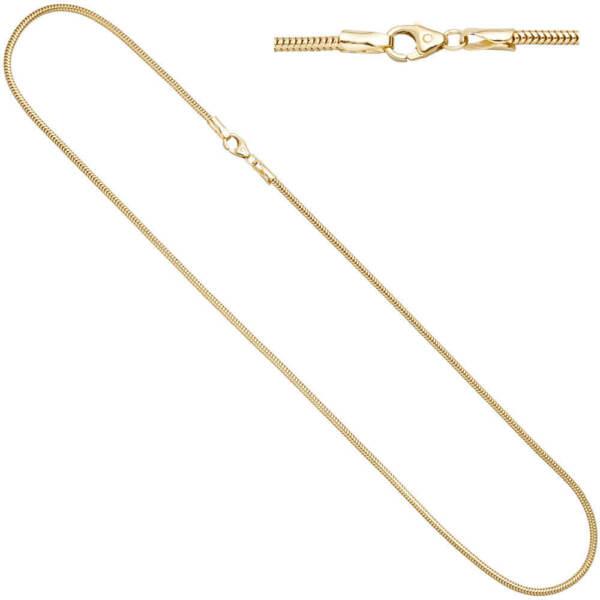 1,9mm Schlangenkette Kette Rund 333 Gold Gelbgold 42cm Halskette Halsschmuck Kann Wiederholt Umgeformt Werden.