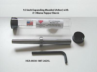 "1/2 x 2-5/8"" Expanding  Mandrel (Arbor) - Number 1 Morse Taper Shank - American"