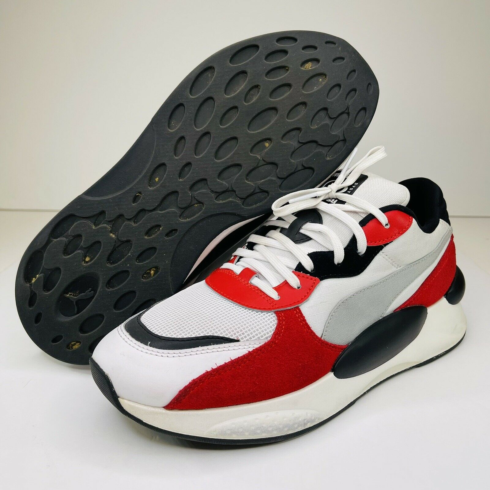 Puma Rs 9.8 Running System Mens Sneakers Shoes Casual White Red Black Size 9.5