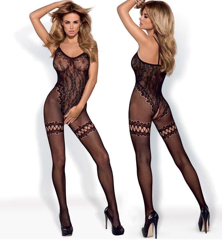 Combinaison F213 Body Au Filet Dames-body En Noir De Obsessive Sous-vêtements