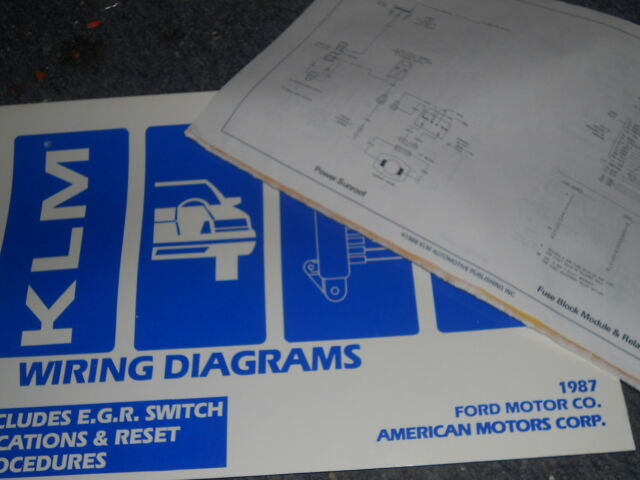 1987 Ford Taurus Mercury Sable Wiring Diagrams Schematics