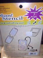 Stencil Ease Accent Stencil Digital Millennium Sas0303