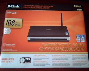 D-link WBR-2310 RangeBooster G Router New