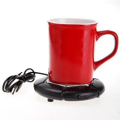 USB Portable Powered Cup Mug Warmer Coffee Tea Drink Heater Tray Pad Black