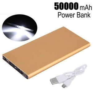 Image is loading 50000mAh-External-Power-Bank-Pack-Portable-USB-Battery- 6f332f1843fe