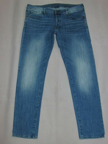 Jeans 34 G 38 Neuw 3301 Denim star Low Mod Taperted Blau UCqaw1