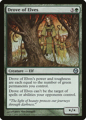 Drove of Elves Duels of the Planeswalkers NM-M Green Uncommon MTG CARD ABUGames