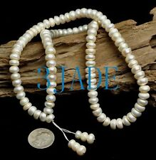 Natural Pearl Mantra Meditation Yoga Buddhist 108 Prayer Beads Mala