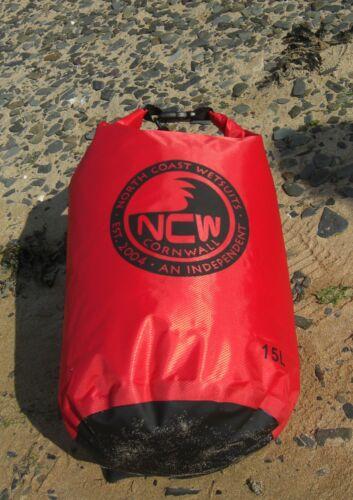 UK SELLER Waterproof Roll Top Dry Bag 15L inc carry strap NEW RIPSTOP FABRIC
